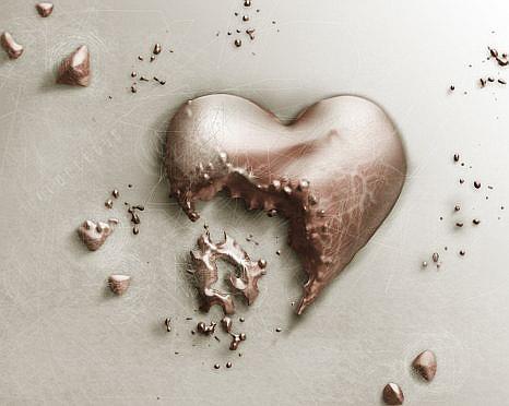 corazon partido
